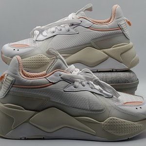 PUMA RS-X Tech White Peach Women's Size 8 NEW
